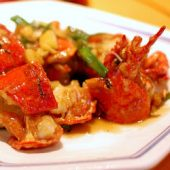 Lobster with Ginger & Green Onions